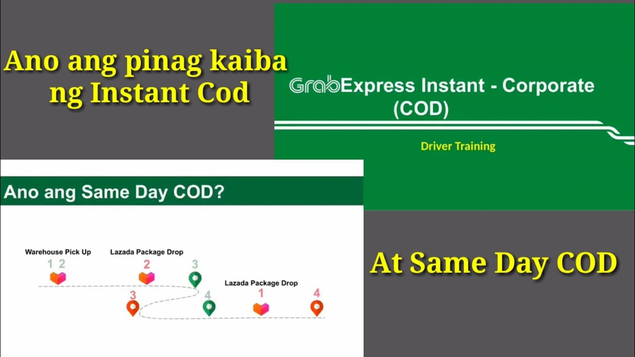 Grab Express Same Day Cash On Delivery Grab Express Instant Cash On Delivery Cod Tutorial Youtube