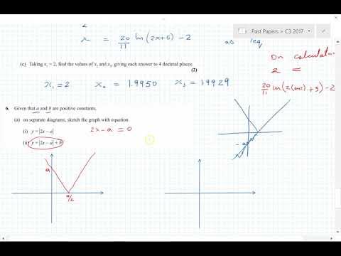 C3 Edexcel 2017 questions 5, 6, 7