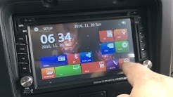 100$ double din gps bluetooth dvd player unboxing and review