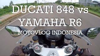ducati 848 vs yamaha r6 indonesia motovlog 20