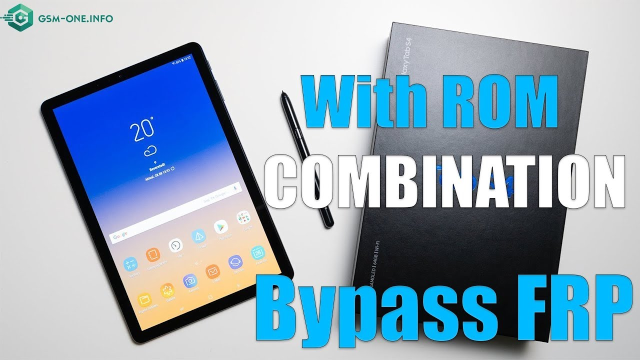 SAMSUNG Galaxy Tab S4 (SM-T835) | How To Bypass FRP Google Account With Rom  COMBINATION