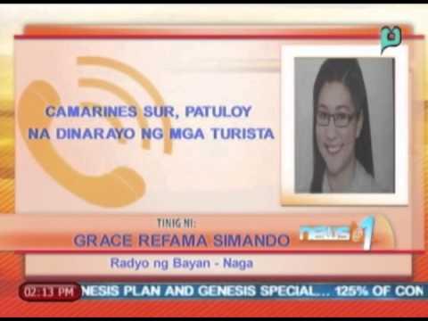 News@1; Camarines Sur, patuloy pa rin na dinarayo ng mga turista || April 21, 2014