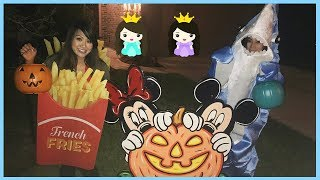 HALLOWEEN TRICK OR TREAT for Candy and Surprise Toys with Princess ToysReview