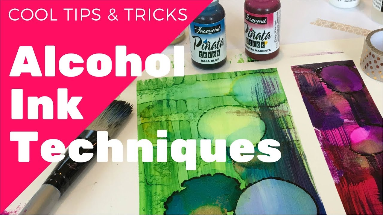 cool alcohol ink techniques youtube