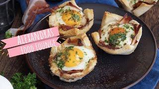 Toast Muffin mit Ei und Speck/ Oster-Brunch Idee