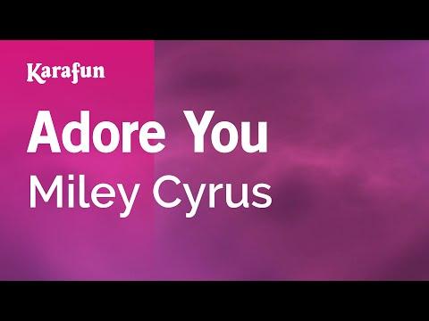 Karaoke Adore You - Miley Cyrus *