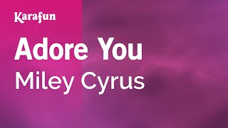 Repeat youtube video Karaoke Adore You - Miley Cyrus *