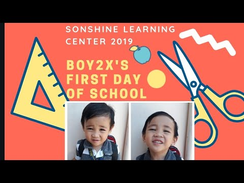 Sonshine Learning Center 2019 (boy2's first day of school)