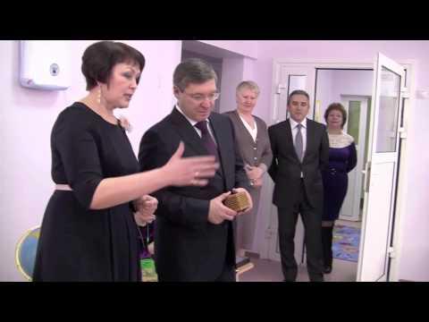 Открытие детского сада №184 в микрорайоне МЖК с участием губернатора области и главы администрации