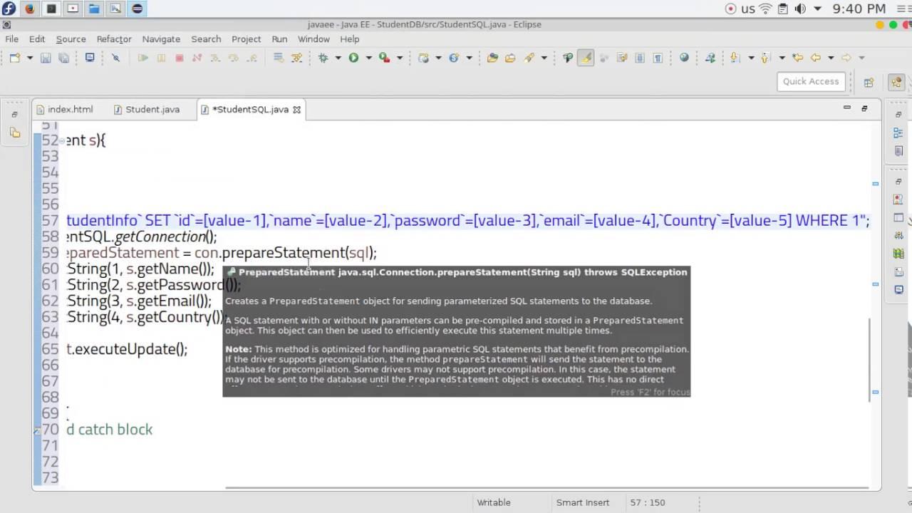 24 JAVA EE Servlets update database Student SQL - ويتروو
