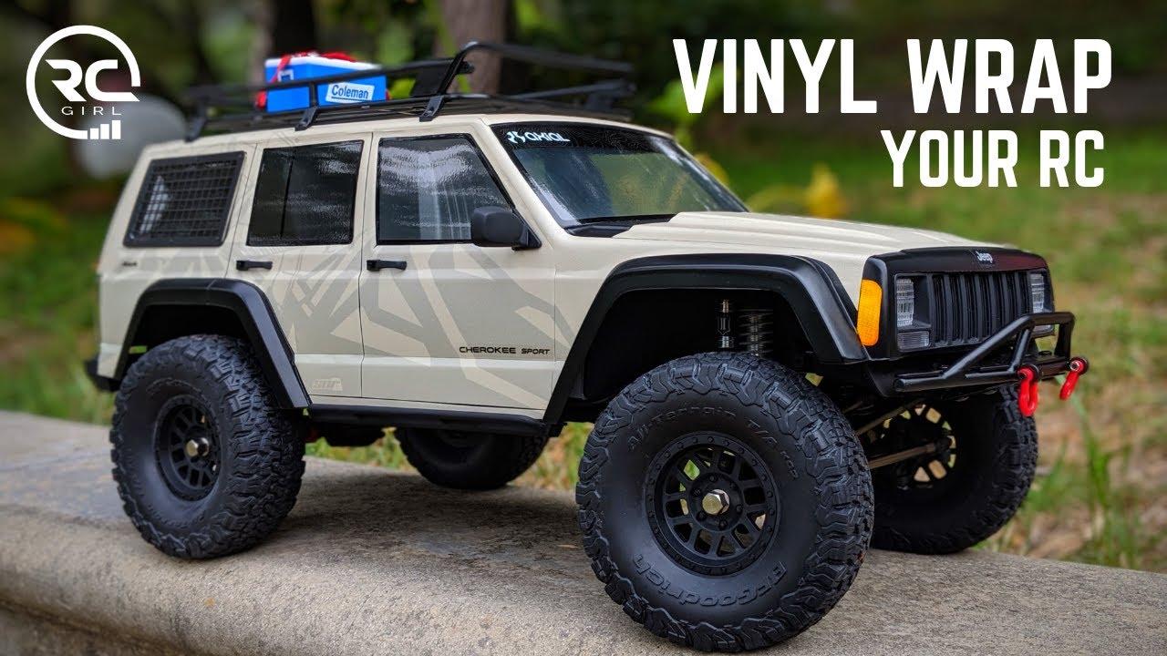 HOW TO VINYL WRAP YOUR RC | Axial SCX10ii Cherokee XJ Build