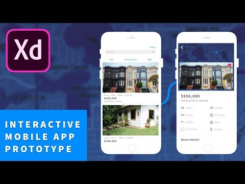 Adobe XD CC Tutorial: Real Estate Mobile Application Design