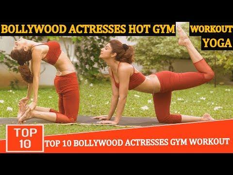 Bollywood Actress Workout Hot Gym Yoga Practics 2017   Bollywood Celebrities Abs