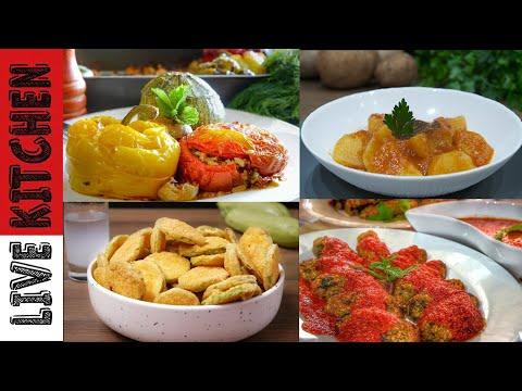 4 Νηστίσιμες συνταγές που θα αγαπήσετε!!Απλές & Πεντανόστιμες – 4 vegan recipes – Live Kitchen