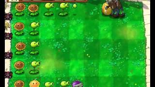 Plants vs Zombies уровень 1-8
