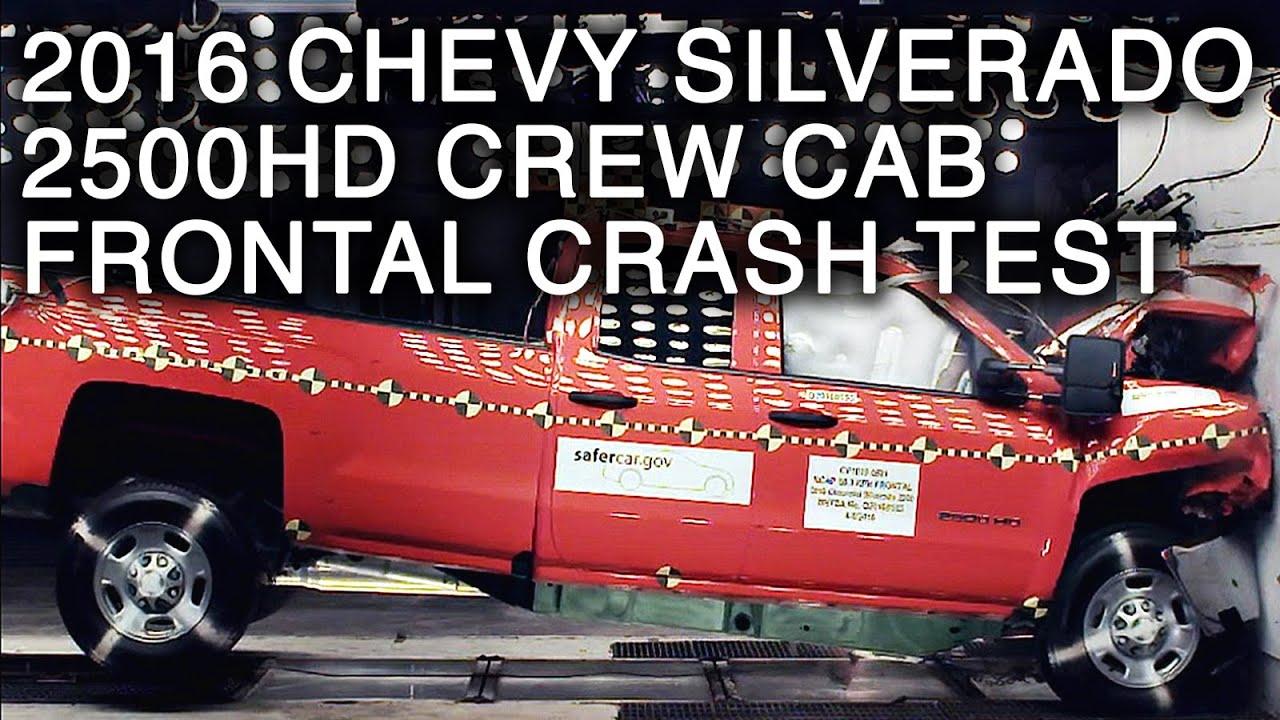 2016 chevrolet silverado 2500hd crew cab crash test frontal crash youtube. Black Bedroom Furniture Sets. Home Design Ideas