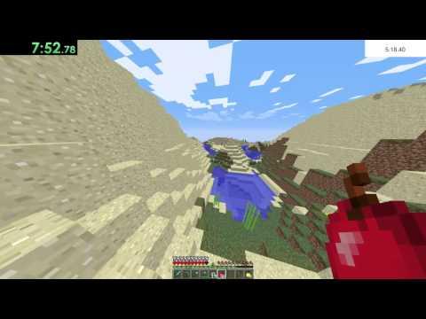 Minecraft Any% Random Seed in 9:52.20 IGT 11:48.73 RTA (Former World Record)