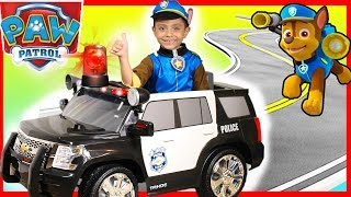police rollplay kids ride on car surprise toys presents power wheels paw patrol chase pj masks