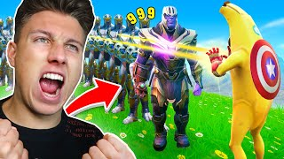 Alle AVENGERS HELDEN vs THANOS in Fortnite mit Standartskill