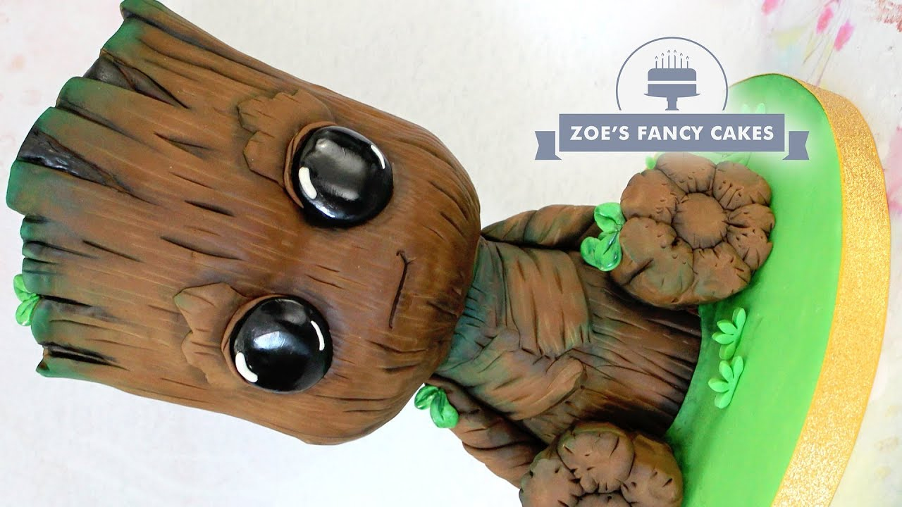 3D Baby Groot Cake Guardians Of The Galaxy Cakes