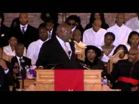 Whitney Houston Funeral - T.D. Jakes: DEATH HAD WON BUT (Love will last forever)