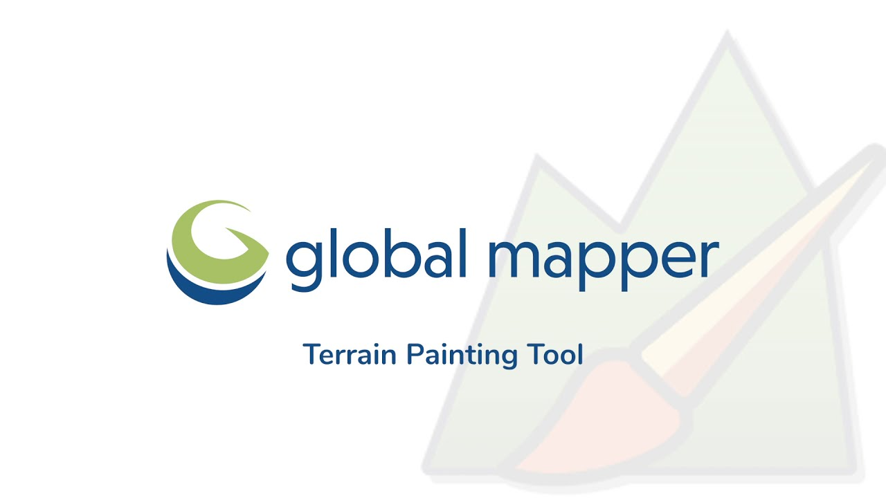 Getting to know the Global Mapper Tools: Terrain Painting Tool