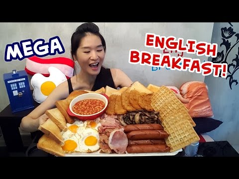 MEGA English Breakfast! (Eating Show - Mukbang) S03E06