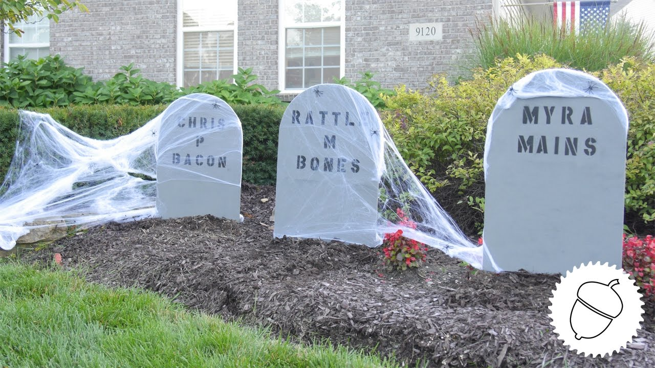 how to make hilarious halloween tombstones! - youtube