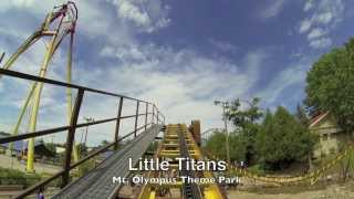 Little Titans At Mt. Olympus In Wisconsin Dells Front Car P.O.V.