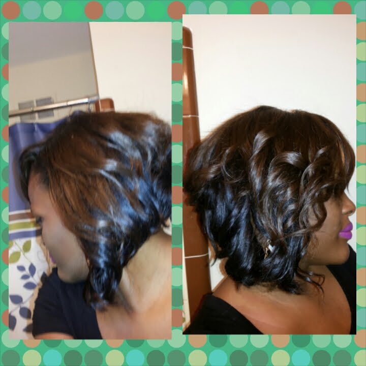 How To Quick Weave Curly Bob Youtube