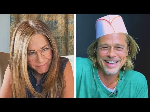 Brad Pitt & Jennifer Aniston Reenact FLIRTY Scene From 'Fast Times'