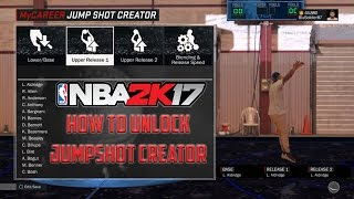 how to unlock the jump shot creator in nba 2k17 mycareer