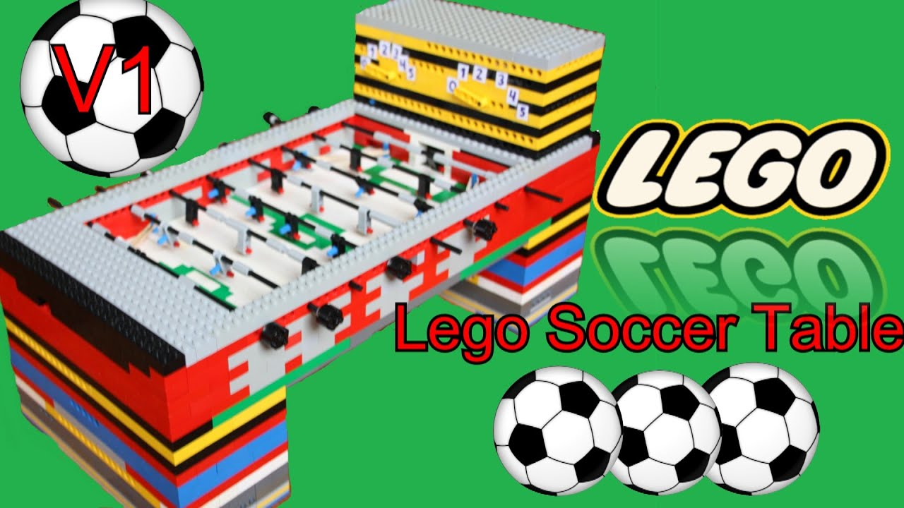 sc 1 st  YouTube & Lego - SOCCER TABLE V1!! *50 SUBs SPECIAL* - YouTube