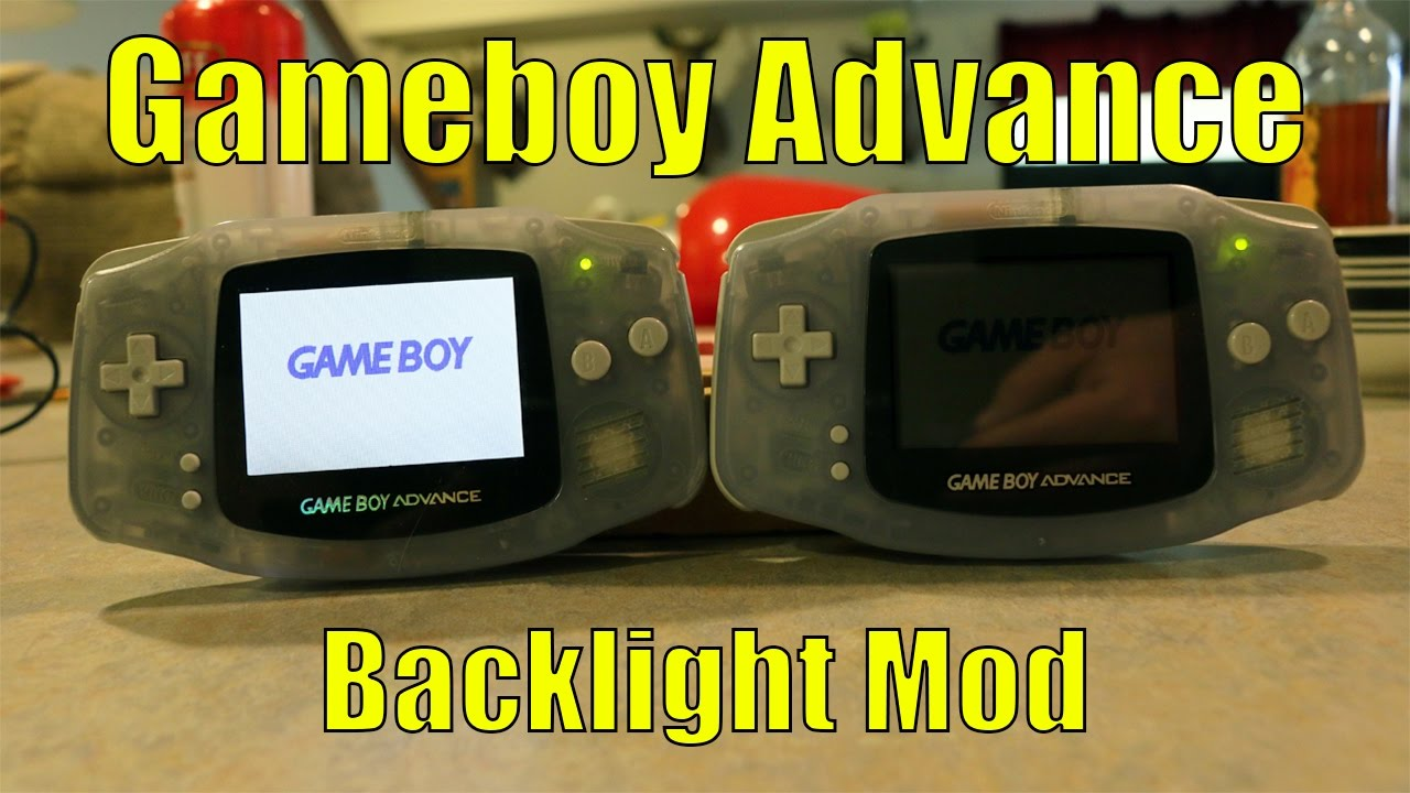Gameboy Advance Backlight Screen Mod!