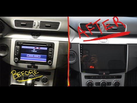 VW CC Aftermarket Unit installation and Original Unit removal (how to install radio/ head unit)