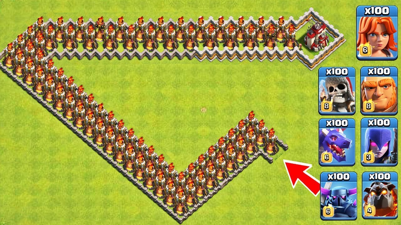 The Ventage Of Inferno Tower Trap On COC! Troops Vs Inferno Tower