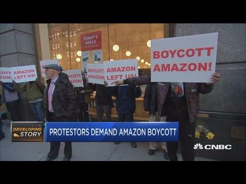 Protestors demand Amazon boycott