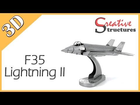 3D metal model & puzzle - F35 Lightning II (Aviation)