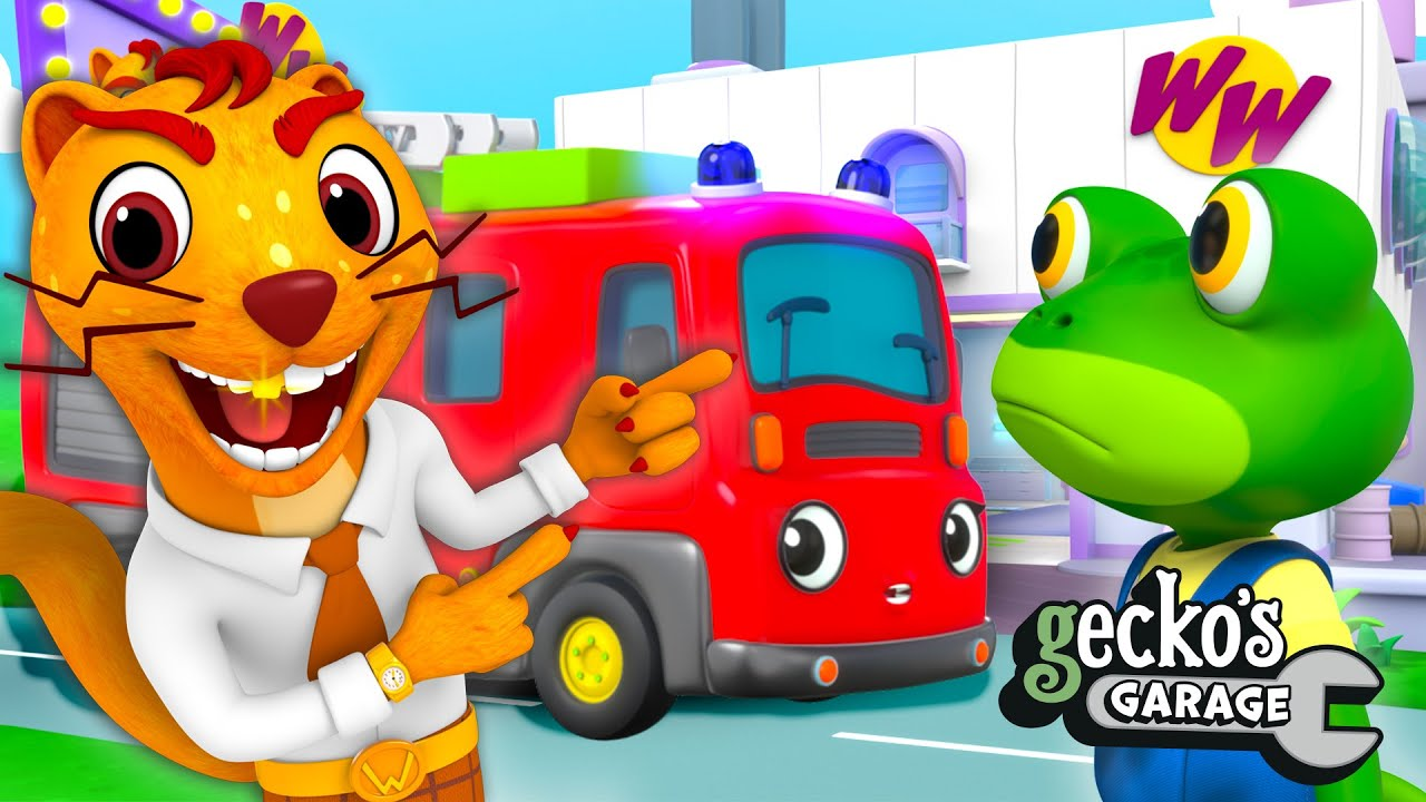 Gecko vs. Mr. Weasel - New Garage In Town!   NEW Gecko's Garage Funny Truck Cartoon For Toddlers