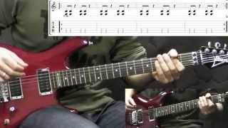 Slayer - Raining Blood - Metal Guitar Lesson (with TABS)