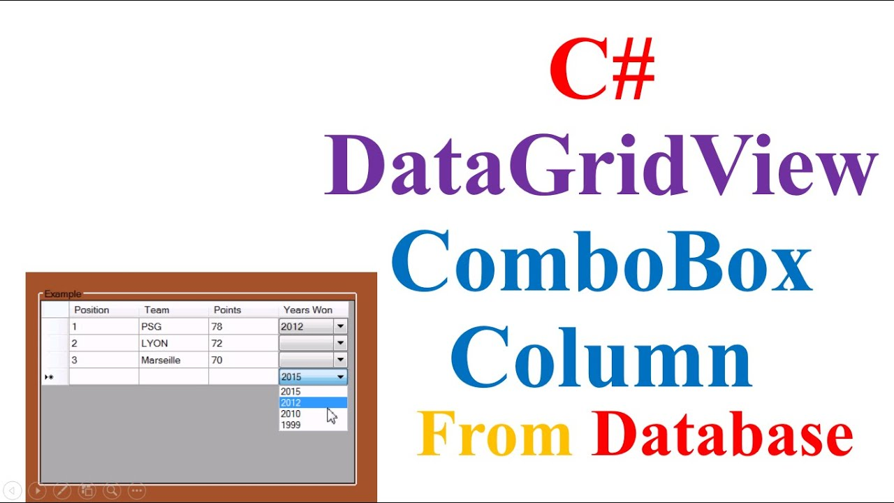 Datagridview combobox column c