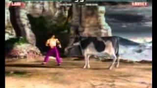 PlayStation - Tekken 3 Milk Commercial - Forest Law vs Lovely Cow (2000)