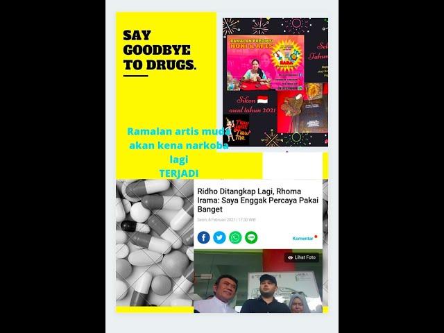 #ridhoroma #narkoba Prediksi 31122020 terbukti awal th 2021 akan ada artis muda kena narkoba lagi