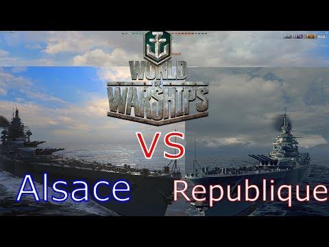World of Warships- Alsace vs. Republique