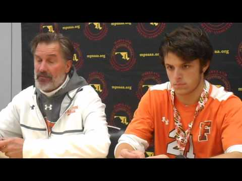 Fallston boys' soccer press conference Class 2A state final 11/19/16