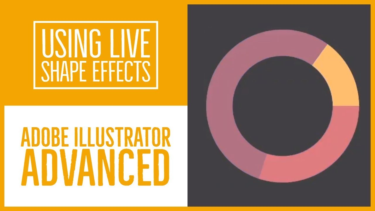 Using Live Shape Effects in Adobe Illustrator CC - Illustrator Advanced Training [10/53]