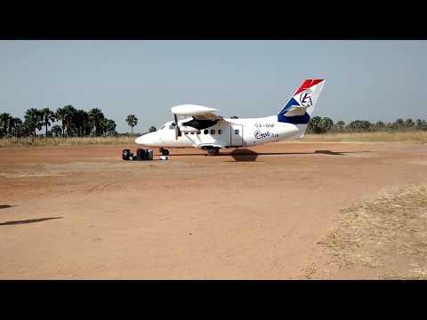 Eagle Air Let 410 Taxi in Yei Airstrip South Sudan