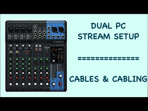 Dual PC Stream Setup With A Mixer - Cabling
