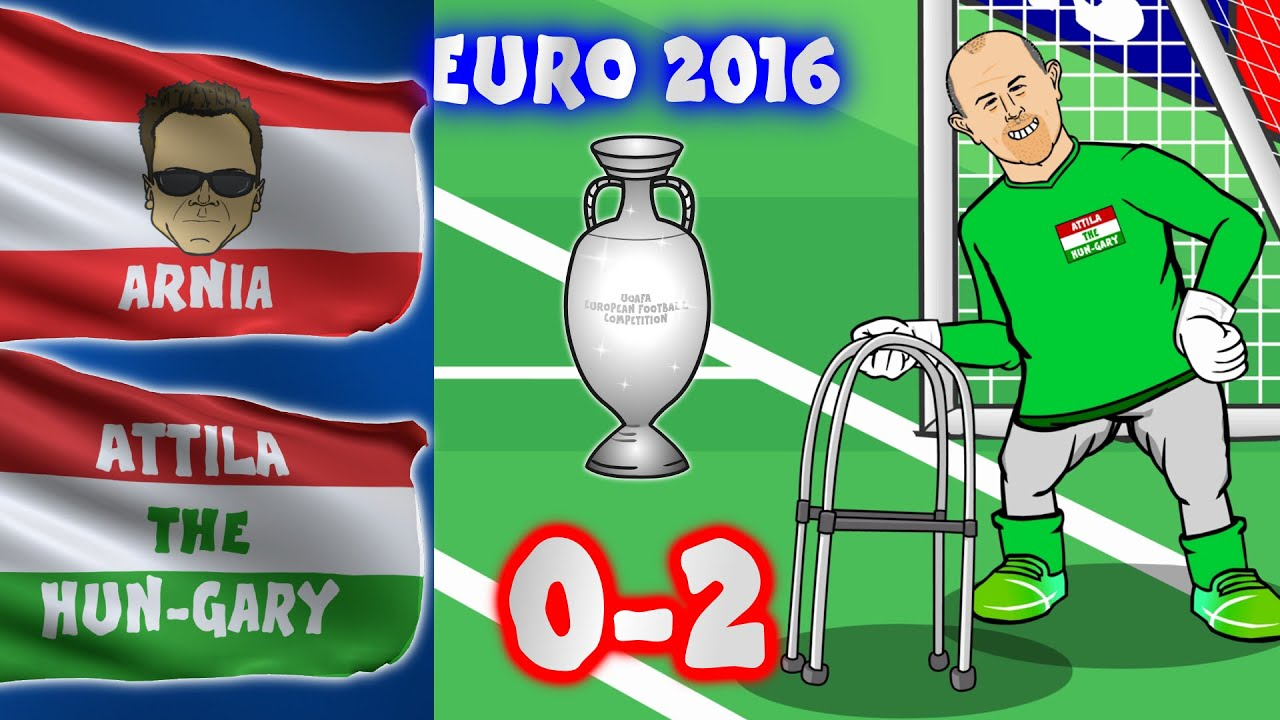 Austria Vs Hungary 0 2 Euro 2016 Cartoon Goals And Highlights