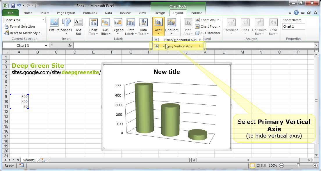 excel how to add axis